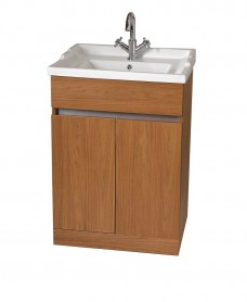 Athens Walnut 60cm Vanity Unit & Victoria Washbasin - *Special Offer includes Choice of Tap