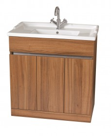 Athens Walnut 80cm Vanity Unit & Victoria Washbasin - * Special Offer includes Choice of Tap