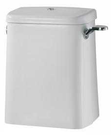 Avalon 6 or 4 litre close coupled cistern spatula lever & lockable lid