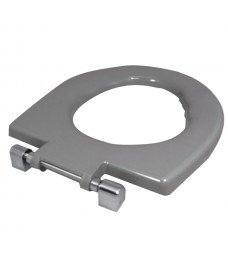 Avalon seat ring grey metal top fix hinge