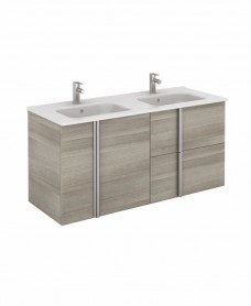 Avila Sandy Grey Wall Hung 120 Vanity Unit and SLIM Basin 2 door  2 drawer