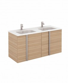 Avila Walnut Wall Hung 120 Vanity Unit and SLIM Basin 2 door  2 drawer