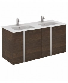 Avila Sandy Wenge Wall Hung 120 Vanity Unit and SLIM Basin 4 door