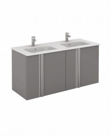 Avila Gloss Grey Wall Hung 120 Vanity Unit and SLIM Basin 4 door