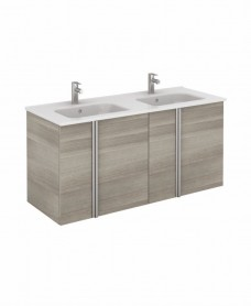 Avila Sandy Grey Wall Hung 120 Vanity Unit and SLIM Basin 4 door
