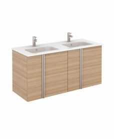 Avila Walnut Wall Hung 120 Vanity Unit and SLIM Basin 4 door