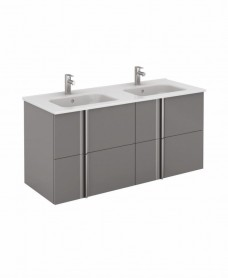 Avila Gloss Grey Wall Hung 120 Vanity Unit and SLIM Basin 4 drawer