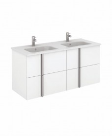 Avila White Wall Hung 120 Vanity Unit and SLIM Basin - 4 Drawer