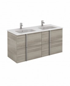 Avila Sandy Grey Wall Hung 120 Vanity Unit and SLIM Basin 4 drawer