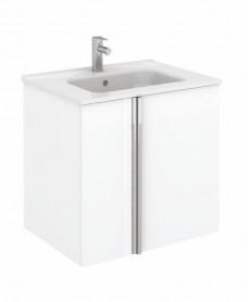 Avila White Wall Hung 60 Vanity Unit and SLIM Basin - 2 Door
