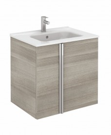 Avila Sandy Grey Wall Hung 60 Vanity Unit and SLIM Basin 2 door
