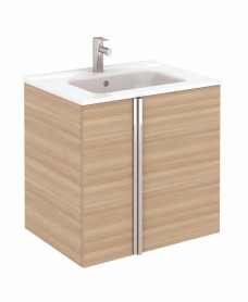 Avila Walnut Wall Hung 60 Vanity Unit and SLIM Basin 2 door ** 50% Off While Stocks Last