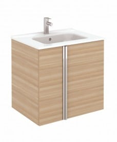 Avila Walnut Wall Hung 60 Vanity Unit and SLIM Basin 2 door