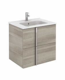 Avila Sandy Grey Wall Hung 60 Vanity Unit and SLIM Basin 2 drawer