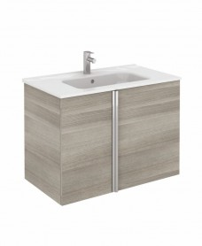 Avila Sandy Grey Wall Hung 80 Vanity Unit and SLIM Basin 2 door