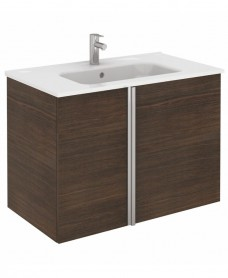 Avila Sandy Wenge Wall Hung 80 Vanity Unit and SLIM Basin 2 door
