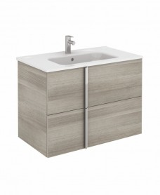 Avila Sandy Grey Wall Hung 80 Vanity Unit and SLIM Basin 2 drawer