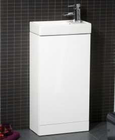 Basle 40cm White - Special Offer* - includes tap and waste