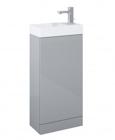 Basle Gloss Light Grey 40cm Vanity Unit