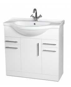 Belmont 85cm Vanity Unit - Special Offer* - includes tap & waste