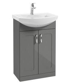 Bristol 55cm Steel Grey Vanity Unit & Basin