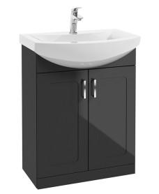 Bristol 65cm Graphite Vanity Unit & Basin