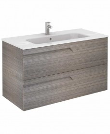 Brava 100 Ash Vanity Unit Ash and SLIM Basin - *50% Off While Stocks Last