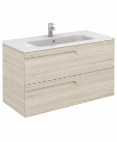 Brava 100 Maple Vanity Unit Maple and SLIM Basin