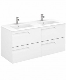 Brava 120 White Vanity Unit White and SLIM Basin