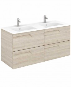Brava 120 Maple Vanity Unit Maple and SLIM Basin