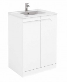Brava 60 White Floor Standing Vanity Unit and SLIM Basin