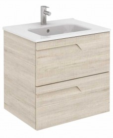 Brava 60 Maple Vanity Unit Maple and SLIM Basin