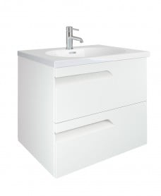Brava White 60cm Vanity Unit 2 Drawer and Idea Basin