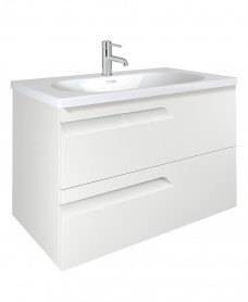 Brava White 80cm Vanity Unit 2 Drawer and Idea Basin