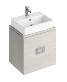 Katie Light Wood 55 CounterTop Vanity Unit and Brook Basin