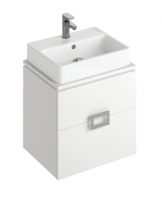 Katie White 55 CounterTop Vanity Unit and Brook Basin