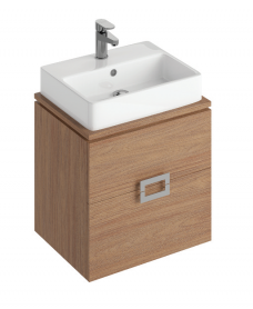 Katie Walnut 55 CounterTop Vanity Unit and Brook Basin