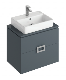 Katie Antracite 65 CounterTop Vanity Unit and Brook Basin