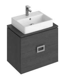 Katie Dark Wood 65 CounterTop Vanity Unit and Brook Basin
