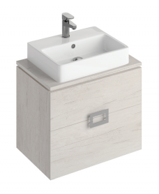 Katie Light Wood 65 CounterTop Vanity Unit and Brook Basin ** 50% Off While Stocks Last