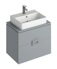 Katie Pearl Grey 65 CounterTop Vanity Unit and Brook Basin