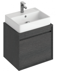 Reflex Dark Wood 55 CounterTop Vanity Unit and Brook Basin