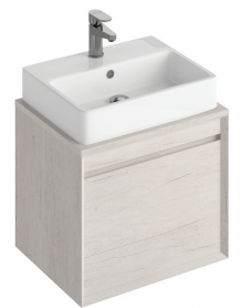 Reflex Light Wood 55 CounterTop Vanity Unit and Brook Basin