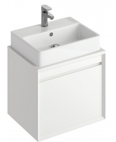 Reflex White 55 CounterTop Vanity Unit and Brook Basin
