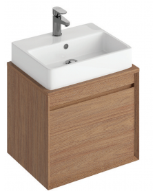 Reflex Walnut 55 CounterTop Vanity Unit and Brook Basin