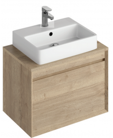 Reflex Halifax Oak 65 CounterTop Vanity Unit and Brook Basin