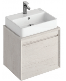 Reflex Light Wood 65 CounterTop Vanity Unit and Brook Basin