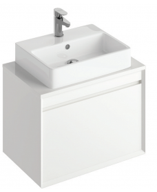 Reflex White 65 CounterTop Vanity Unit and Brook Basin