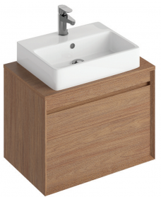 Reflex Walnut 65 CounterTop Vanity Unit and Brook Basin