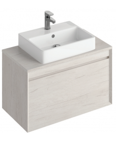 Reflex Light Wood 80 CounterTop Vanity Unit and Brook Basin